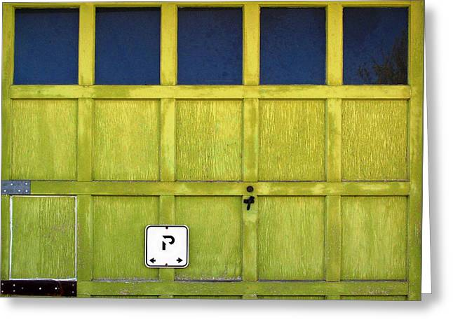 Greeting Card featuring the photograph Garage Door by Ethna Gillespie