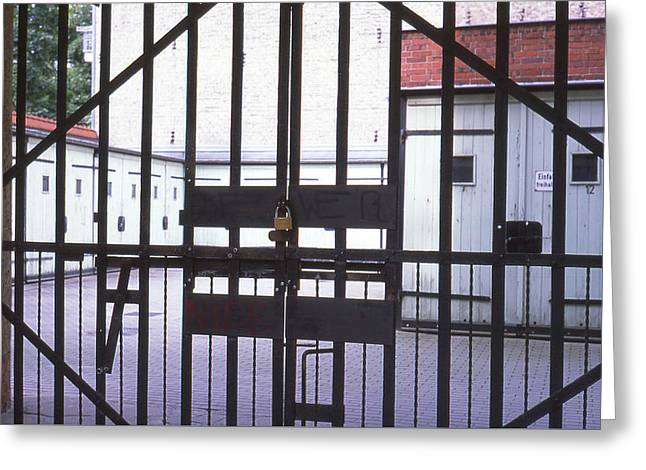 Garages And Gate Greeting Card