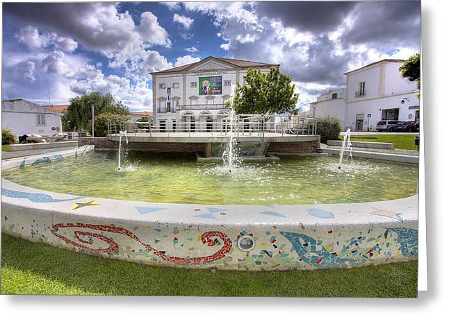 Garcia De Resende Theather Greeting Card by Andre Goncalves