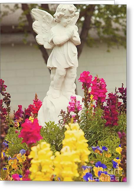Garden Angel Greeting Card by Toni Hopper