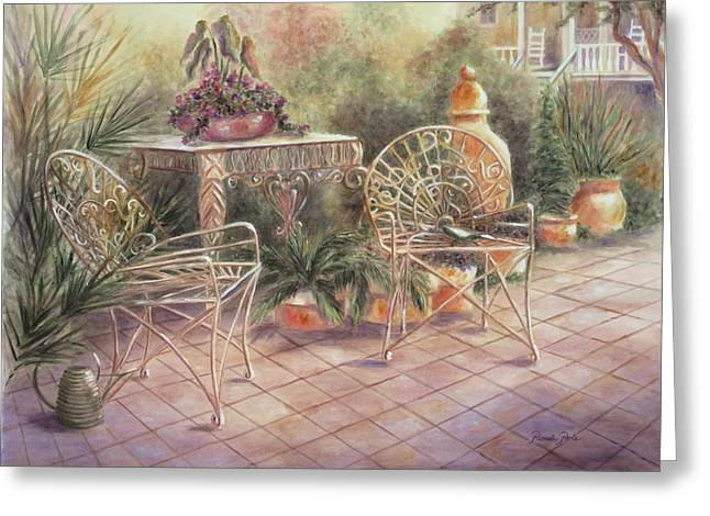 Garden At Linwood  Greeting Card