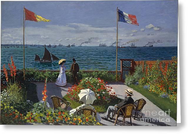 Garden At Sainte Adresse, 1867 Greeting Card by Claude Monet