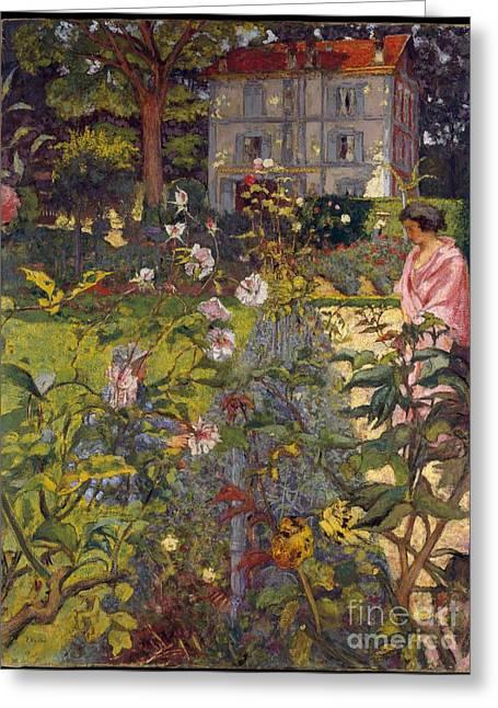 Garden At Vaucresson Greeting Card
