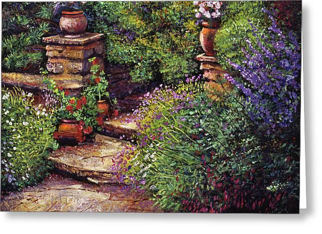 Garden At Villa Verona Greeting Card