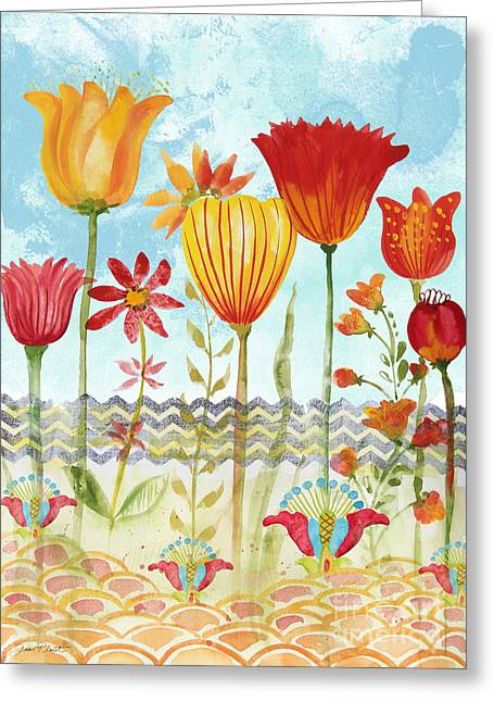Garden Beauty-jp2960 Greeting Card by Jean Plout