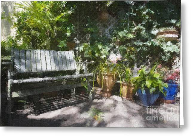 Garden Bench Greeting Card by Sheila Smart Fine Art Photography