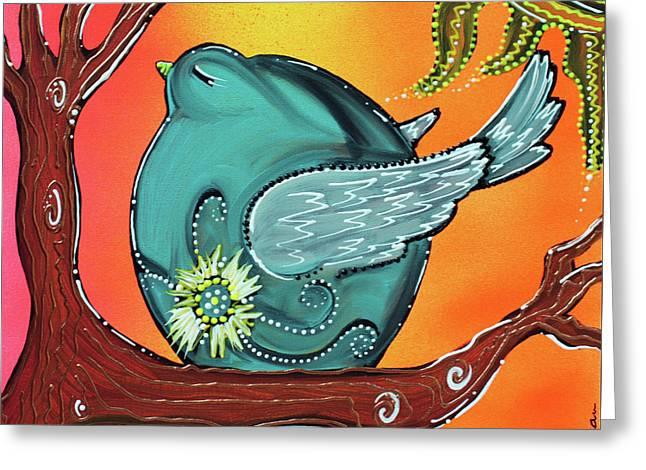 Garden Bird Greeting Card by Laura Barbosa