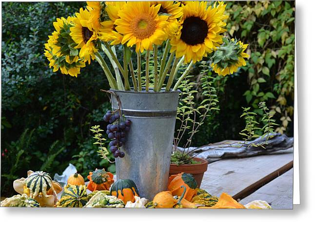 Garden Bounty In Yellow And Green Greeting Card