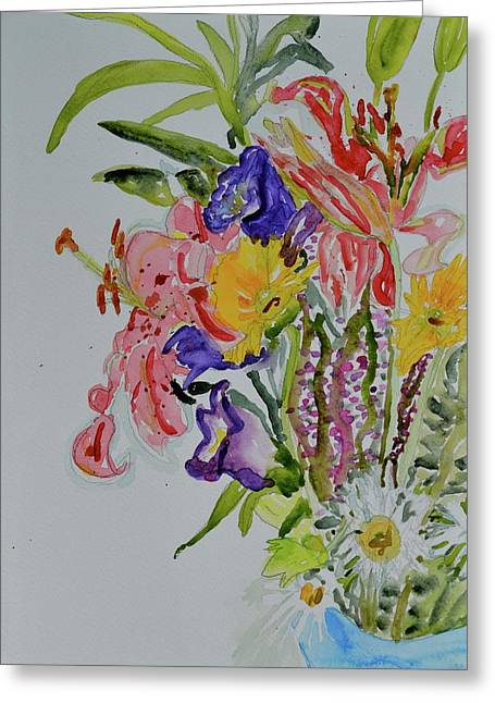 Greeting Card featuring the painting Garden Bouquet by Beverley Harper Tinsley