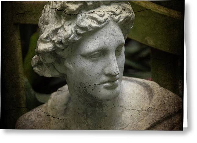 Garden Bust Greeting Card by Garry Gay