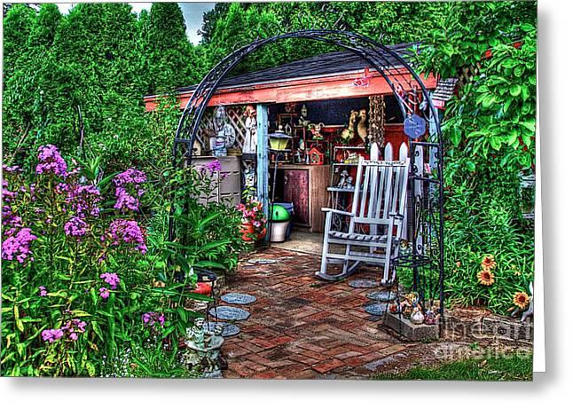 Garden Center Greeting Card by Robert Pearson