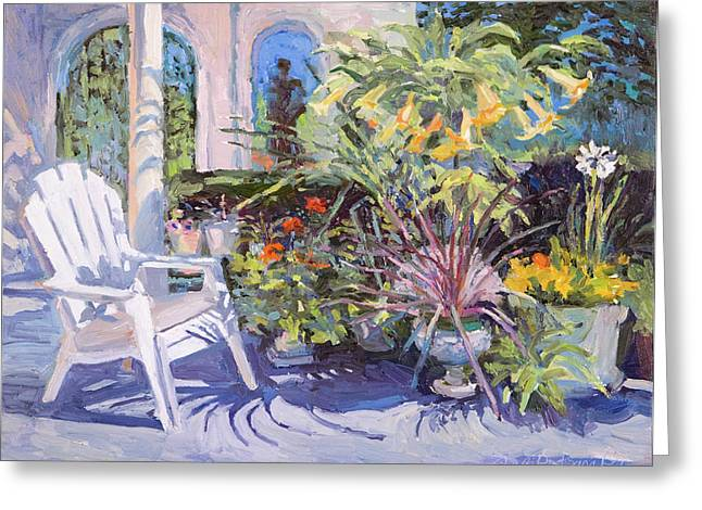 Garden Chair In The Patio Greeting Card