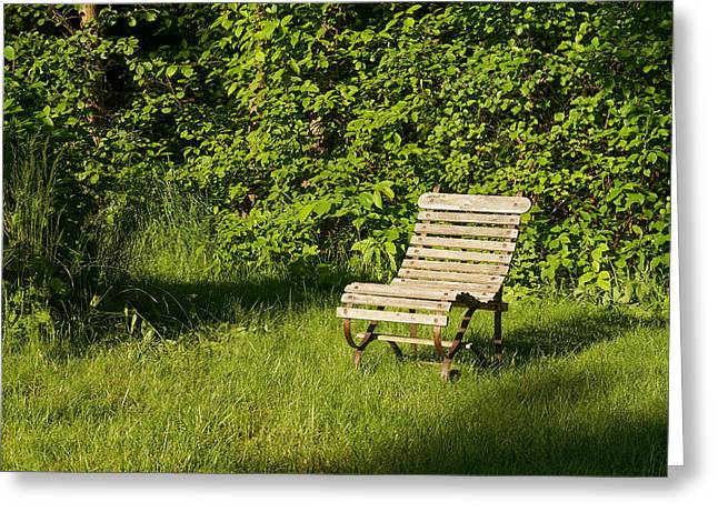 Garden Chair Greeting Card by Lutz Baar