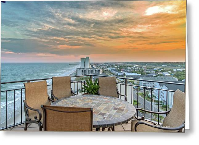 Garden City Beach View Greeting Card