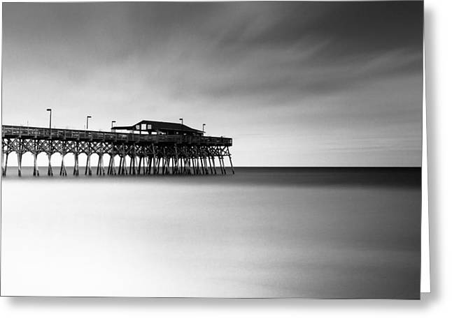 Garden City Pier Bw I Greeting Card by Ivo Kerssemakers