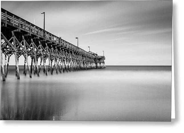 Garden City Pier Bw II Greeting Card by Ivo Kerssemakers