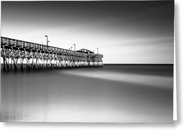 Garden City Pier Bw IIi Greeting Card by Ivo Kerssemakers