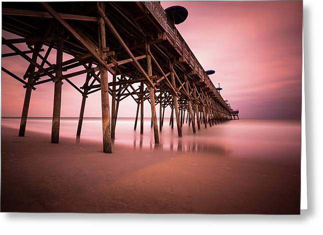 Garden City Pier June Sunset Greeting Card by Ivo Kerssemakers