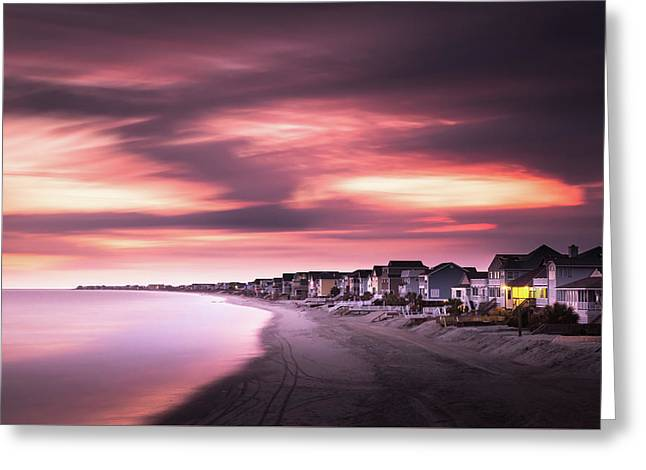 Garden City Sunset Greeting Card by Ivo Kerssemakers