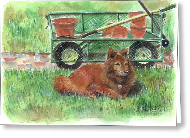 Garden Companion Greeting Card by Sheryl Heatherly Hawkins