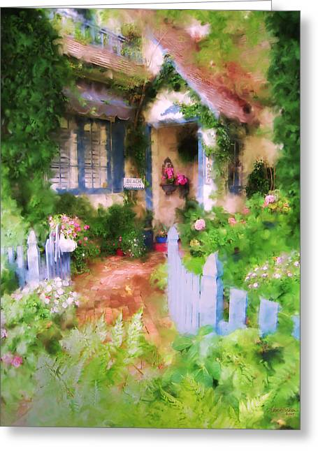 Garden Cottage Greeting Card