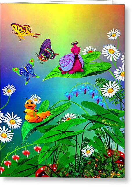 Garden Critters Greeting Card by Hanne Lore Koehler