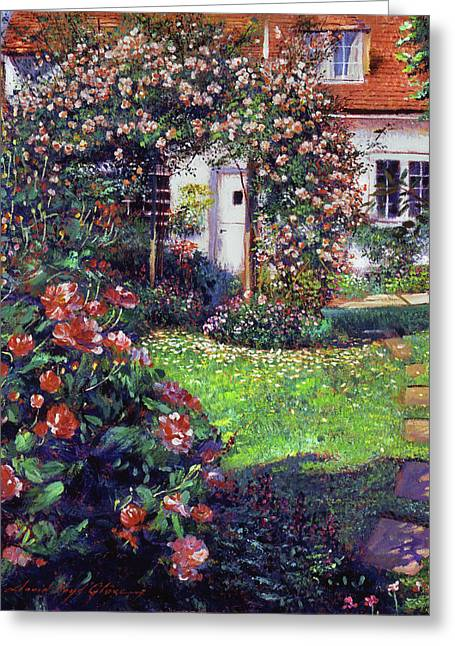 Garden Delights Greeting Card by David Lloyd Glover