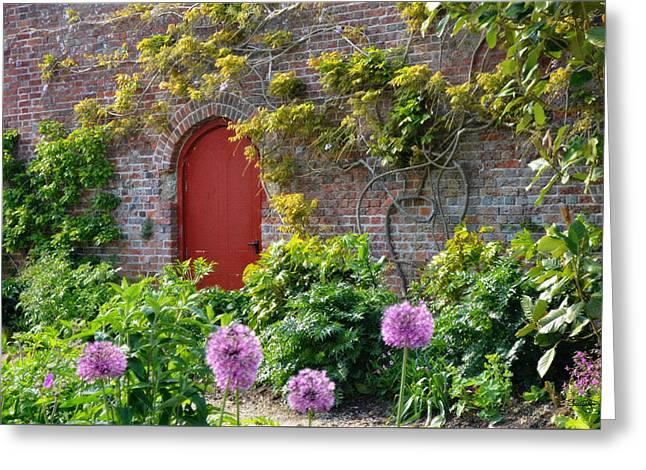 Garden Door - Paint With Canvas Texture Greeting Card