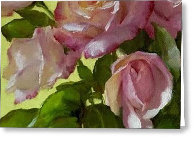 Garden Elegance Detail Image Greeting Card
