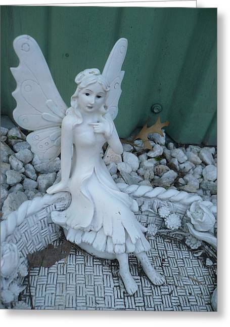 Garden Fairy Greeting Card by Stephen Davis