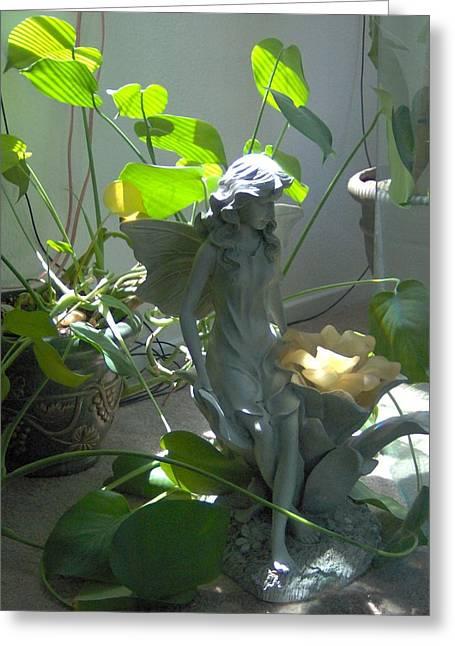Garden Fairy Greeting Card by Tori  Reynolds
