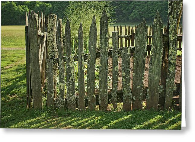 Greeting Card featuring the photograph Garden - Fence by Nikolyn McDonald