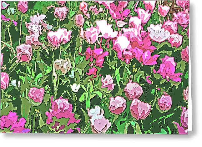 Garden Flowers Energy Greeting Card by Linda Mears