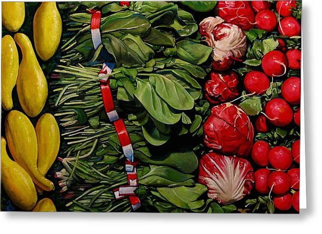 Garden Fresh Greeting Card by Doug Strickland