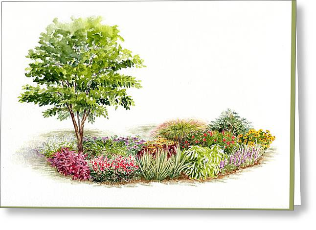Garden Fresh Watercolor Painting Greeting Card