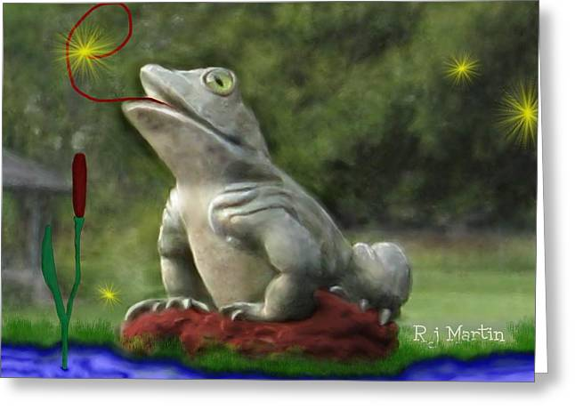 Garden Frog Greeting Card