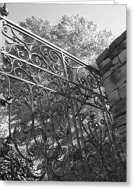 Garden Gate Greeting Card by Audrey Venute