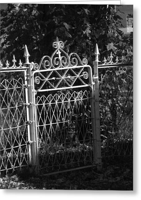 Garden Gate Greeting Card by Michael L Kimble