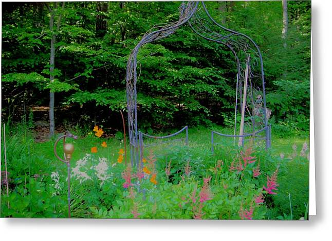 Greeting Card featuring the photograph Garden Gate by Susan Carella