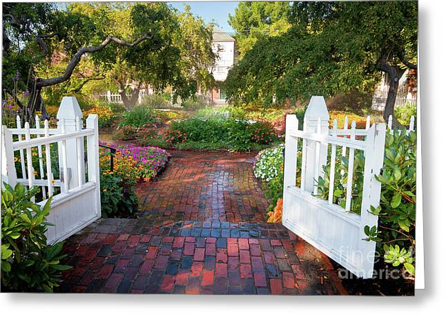 Greeting Card featuring the photograph Garden Gate by Susan Cole Kelly