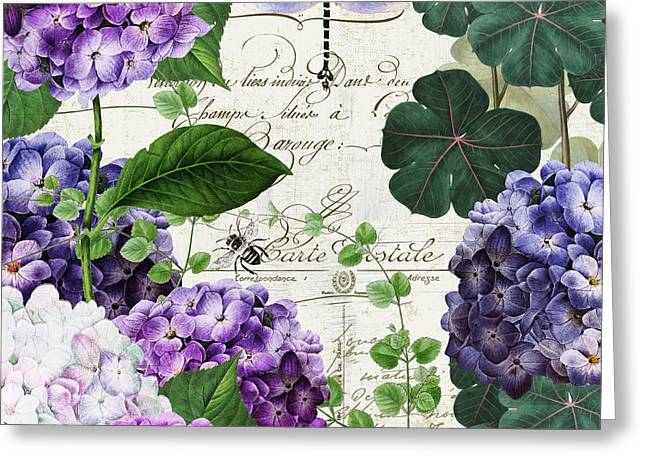 Garden Glow II Greeting Card by Mindy Sommers