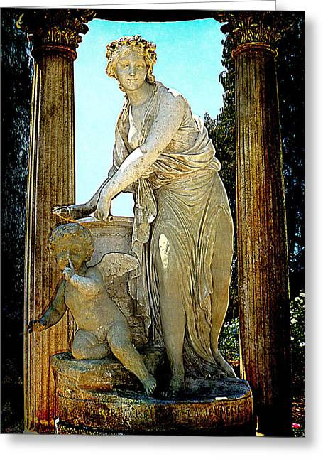 Greeting Card featuring the photograph Garden Goddess by Lori Seaman