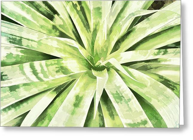 Garden Green Greeting Card by Ann Powell