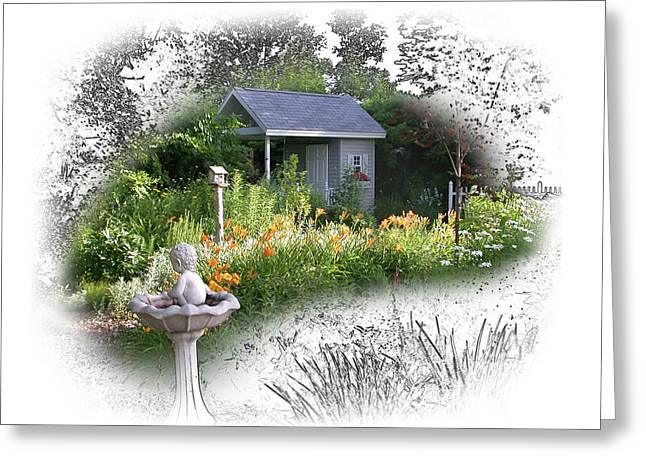 Garden House Greeting Card