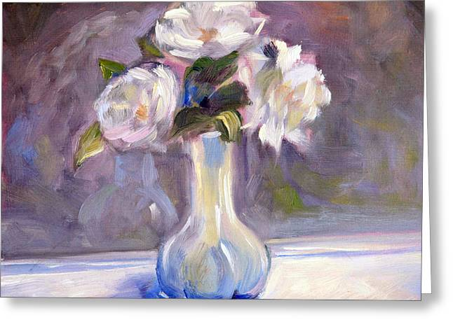 Best Sellers -  - Floral Still Life Greeting Cards - Garden Icebergs Greeting Card by Athena  Mantle
