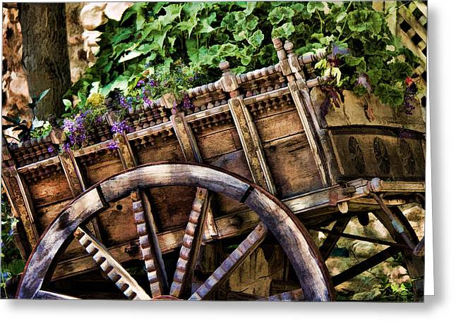 Garden In A Wagon Greeting Card by Lana Trussell