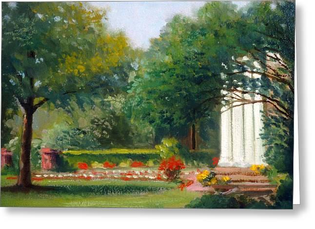 Garden In Nj Impression Greeting Card by David Olander