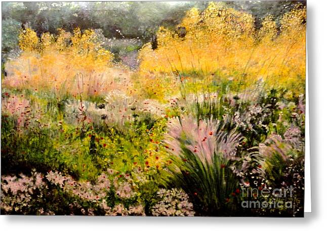 Garden In Northern Light Greeting Card