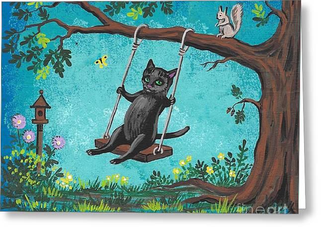 Garden Joy Greeting Card by Margaryta Yermolayeva