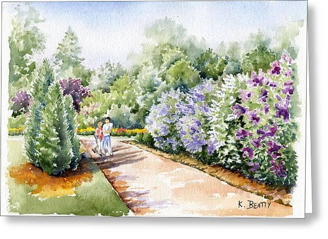 Garden Lilacs Greeting Card